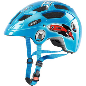 UVEX Finale Bike Helmet Children LED blue